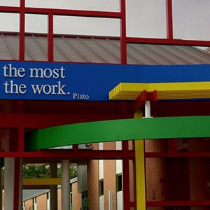 McLaughlin Middle School quote on outside building